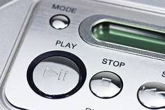 Modern stereo system buttons Royalty Free Stock Image