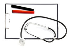 Modern stethoscope Stock Photo