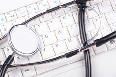 modern stetoskopwhite för tangentbord Royaltyfri Bild