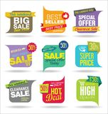 Modern stickers and tags collection  illustration Stock Images