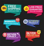 Modern stickers and tags collection  illustration Royalty Free Stock Photos