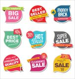 Modern stickers and tags collection  illustration Stock Photo
