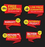 Modern stickers and tags collection  illustration Royalty Free Stock Images