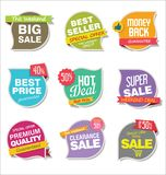 Modern stickers and tags collection vector illustration Stock Image