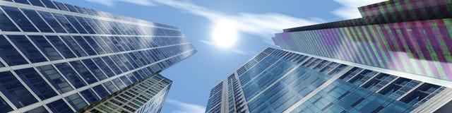 modern stigning för byggnader high royaltyfri fotografi