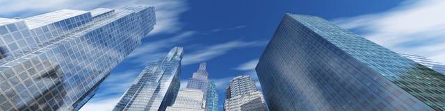 modern stigning för byggnader high arkivfoto