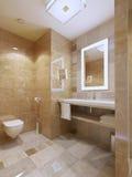 Modern stil för badrum fotografering för bildbyråer
