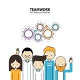 Modern stil för grafisk design för teamwork Royaltyfria Foton