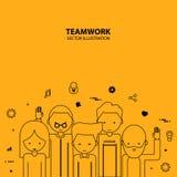 Modern stil för grafisk design för teamwork Royaltyfri Fotografi