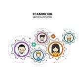 Modern stil för grafisk design för teamwork Arkivbild