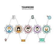 Modern stil för grafisk design för teamwork Arkivbilder