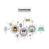 Modern stil för grafisk design för teamwork Royaltyfri Bild