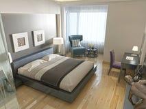 Modern stil för modernt hotellrum med beståndsdelar av art déco Arkivbilder