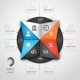 Modern stil för origami för informationsdiagramaffär. Arkivfoton
