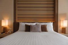 Modern stil för sovruminredesign Arkivbild