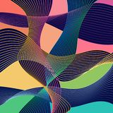 Modern Stle Abstraction With Composition Made Of Various Rounded Shapes In Color. stock illustration