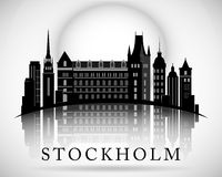 Modern Stockholm City Skyline Design. Sweden. Modern Stockholm City Skyline Design stock illustration