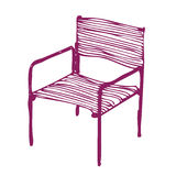 modern stol Stock Illustrationer