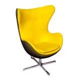 Modern stol för gult kontor Arkivfoto
