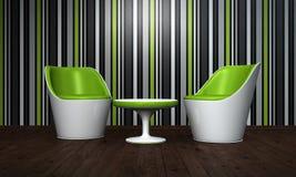 Modern stolar och tabell Arkivfoto