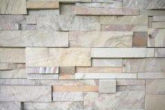 Modern stone brick wall Stock Photography