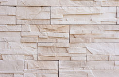 Modern stone brick wall, raw Royalty Free Stock Images
