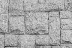 Modern stone Brick Wall Surfaced. Pattern of White Modern stone Brick Wall Surfaced, black and white tone Stock Photos