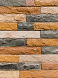Modern stone brick wall surfaced. Texture Royalty Free Stock Photography