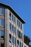 Modern stone facade in Milan royalty free stock photo