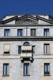 Modern stone facade in Milan royalty free stock images