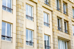 Modern stone facade. View of modern stone facade in city Luxembourg /  Luxembourg, summer Stock Image