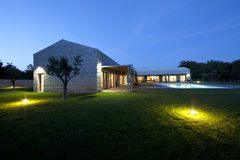 Modern Stone house in Istria Royalty Free Stock Photography