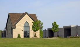 Modern Stone Mausoleum Stock Photo