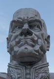 Modern Stone Statue of General Zhukov Russian War Hero Stock Photos