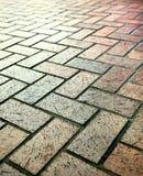 Modern stone street road pavement texture Royalty Free Stock Image