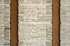 Modern stone wall. Stock Photo