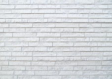 Modern stone white brick wall Stock Images