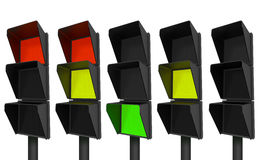 Modern stoplights Stock Images