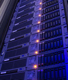 Modern storage of blade servers in the data center vertical Stock Image