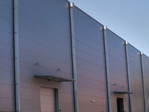 Modern storage building with aluminium facade Stock Images