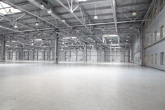 Modern storehouse. Large modern storehouse with some goods Royalty Free Stock Photo