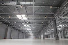 Modern storehouse. Large still modern empty storehouse Stock Photos