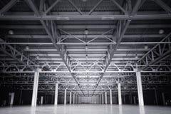 Modern storehouse. Large modern dark  empty storehouse Stock Photo