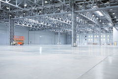 Modern storehouse. Large light modern empty storehouse Royalty Free Stock Image