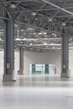 Modern storehouse. Large light modern empty storehouse Stock Images