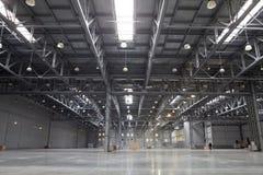 Modern storehouse. Large light modern empty storehouse Royalty Free Stock Images