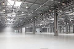 Modern storehouse. Large modern bright empty storehouse Royalty Free Stock Photo