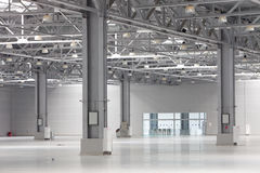 Modern storehouse. Large modern bright empty storehouse Royalty Free Stock Images