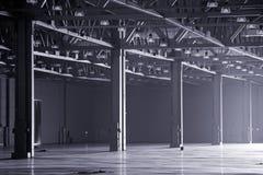 Modern storehouse. Large modern dark  empty storehouse Royalty Free Stock Image