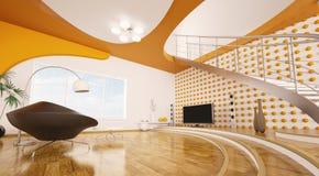 modern strömförande för interior 3d framför lokal Royaltyfri Bild